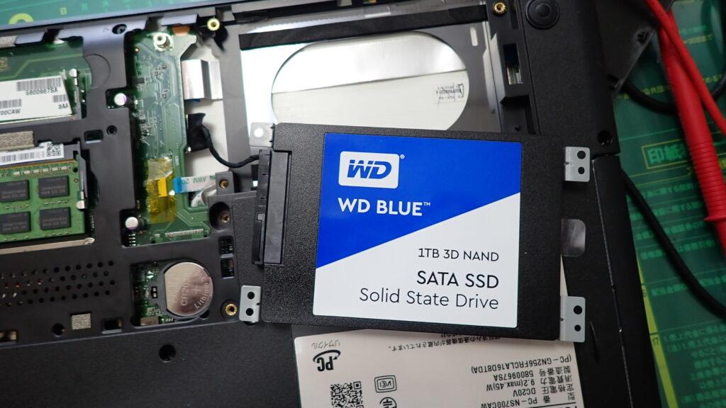 ハードディスク/SSD、メモリ交換
